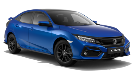 Vista frontale Honda Civic.