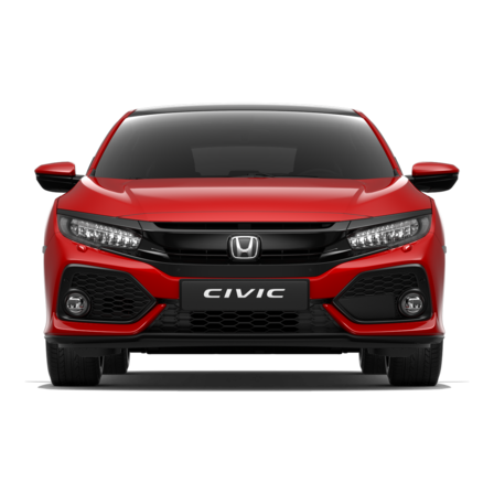 Front facing Honda Civic.