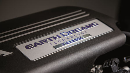 Close up of Honda Earth Dreams engine.