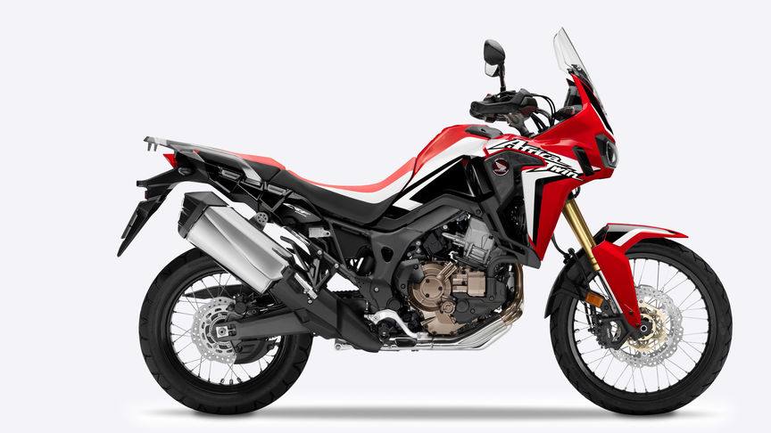 Scatto laterale dell'Africa Twin